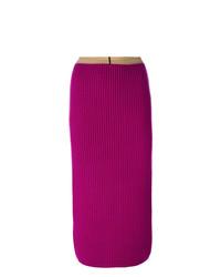 Jupe mi-longue pourpre Calvin Klein 205W39nyc