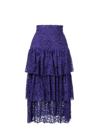Jupe mi-longue violette Bambah