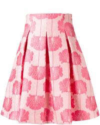 Jupe patineuse à fleurs rose P.A.R.O.S.H.