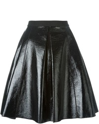Jupe patineuse en cuir noire Marc Jacobs