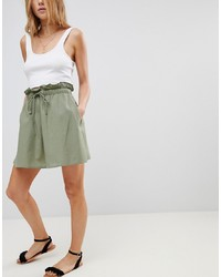 Jupe patineuse olive ASOS DESIGN