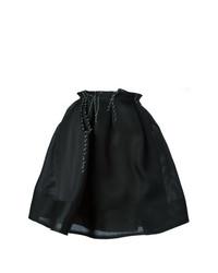 Jupe patineuse plissée noire Lanvin