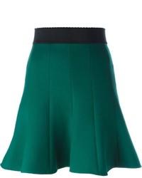 Jupe patineuse vert foncé Dolce & Gabbana