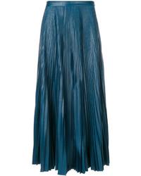 Jupe plissée bleu canard Golden Goose Deluxe Brand