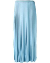 Jupe plissée bleu clair MM6 MAISON MARGIELA