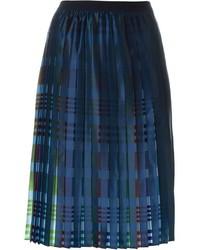 Jupe plissée bleu marine Emporio Armani
