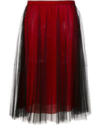 Jupe plissée bordeaux Versace