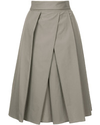 Jupe plissée grise Jil Sander