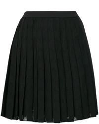 Jupe plissée noire Versace