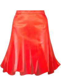 Jupe plissée rouge Moschino