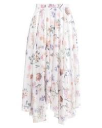 Jupe trapèze à fleurs blanche New Look