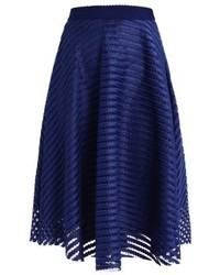 Jupe trapèze bleue marine New Look