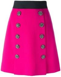 Jupe trapèze fuchsia Dolce & Gabbana