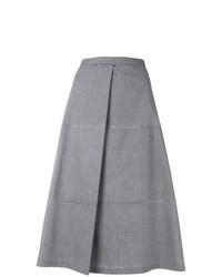 Jupe trapèze grise