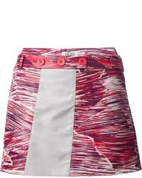 Jupe trapèze imprimée rouge Kenzo