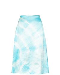 Jupe trapèze imprimée tie-dye bleu clair Ashley Williams