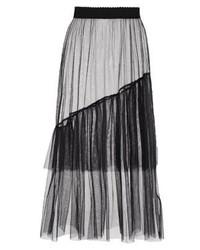 Jupe trapèze noire New Look