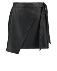 Jupe trapèze noire Topshop