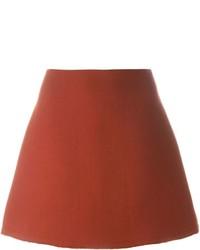 Jupe trapèze rouge Marni