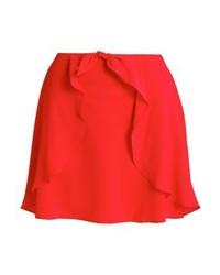 Jupe trapèze rouge Miss Selfridge