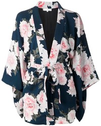 Kimono à fleurs bleu marine Fleur Du Mal
