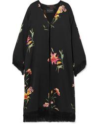 Kimono à fleurs noir Etro