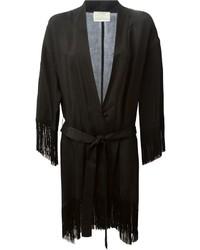 Kimono à franges noir
