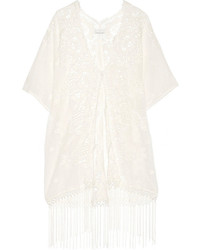 Kimono en dentelle blanc