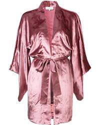 Kimono en velours rose Fleur Du Mal