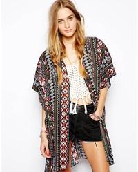 Kimono géométrique multicolore