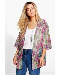 Kimono imprimé multicolore
