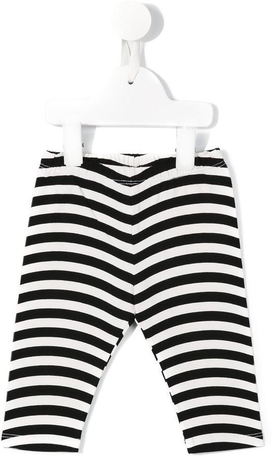 Leggings à rayures horizontales blancs et noirs Fendi