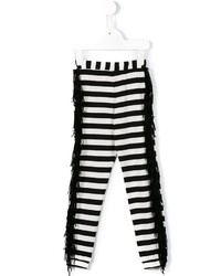 Leggings à rayures horizontales blancs
