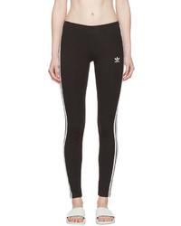 Leggings à rayures verticales noirs et blancs adidas