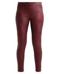 Leggings en cuir bordeaux Free People