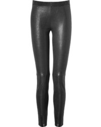 Leggings en cuir noirs