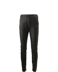 Leggings en cuir noirs Ilaria Nistri