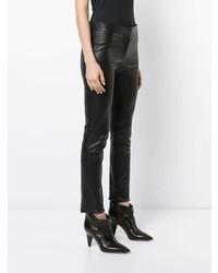 Leggings en cuir noirs Derek Lam