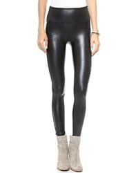 Leggings en cuir noirs Spanx