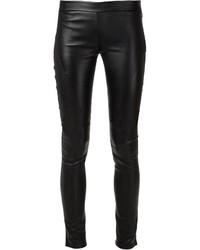 Leggings en cuir noirs Tess Giberson
