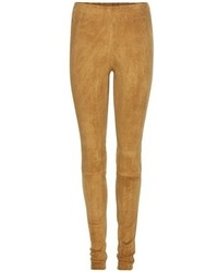 Leggings en daim marron clair