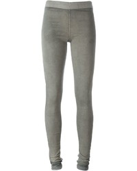 Leggings en denim gris Rick Owens