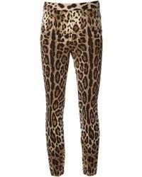 Leggings imprimés léopard bruns clairs Dolce & Gabbana