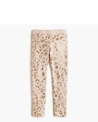 Leggings imprimés léopard marron clair
