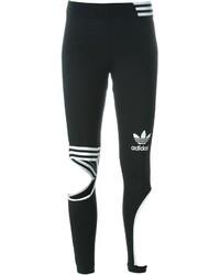 Leggings imprimés noirs et blancs adidas