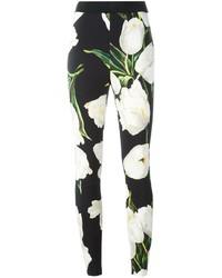 Leggings imprimés noirs et blancs Dolce & Gabbana