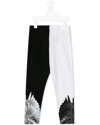 Leggings imprimés noirs et blancs