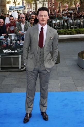 Blazer  chemise de ville pantalon de costume chaussures derby cravate  large 843