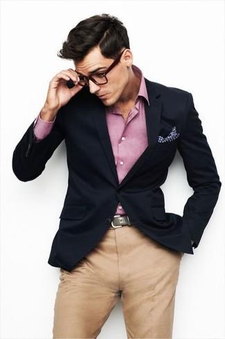 Chemise à manches longues rose Mister Marcel
