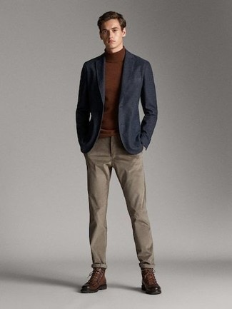Pantalon chino marron Boss Orange